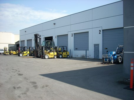 Dan's Forklifts' premises