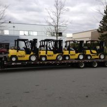 Multi Loading Forklifts for delivery to the Convention Centre