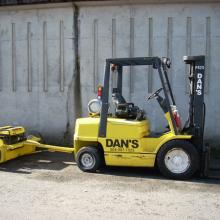 This tow behind magnet is great for cleaning up yards and construction sites