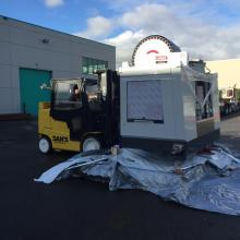 15,000lb capacity forklift with a Full Cab