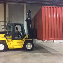 We have forklifts for a different applications. This particular unit is perfect or lifting Shipping Containers.