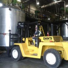 Low Clearance Height 30000 lb forklift.