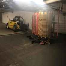 Mini Telehandler working in a Vancouver Underground