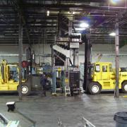Taking apart a printing press at College Printers