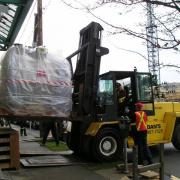 Moving in a new MRI machine into Medical Clinic