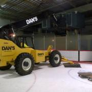 10,000 lb Capacity Telehandler with outriggers